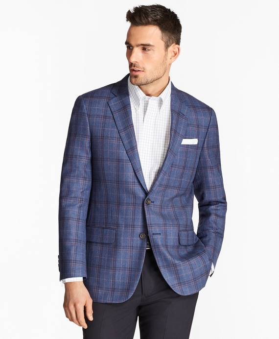 Madison Fit Plaid with Windowpane Sport Coat Blue