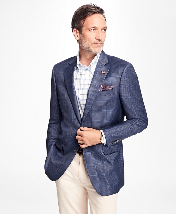 Madison Fit Saxxon Wool Check with Windowpane Sport Coat