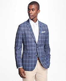 Milano Fit Plaid Hopsack Sport Coat