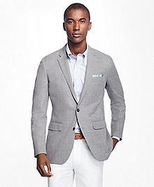 Milano Fit Two-Button Hopsack Sport Coat