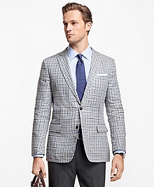 Regent Fit Multi-Check Linen Sport Coat