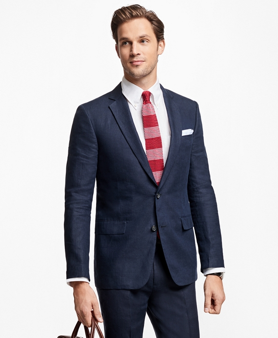 Regent Fit Navy Linen Sport Coat