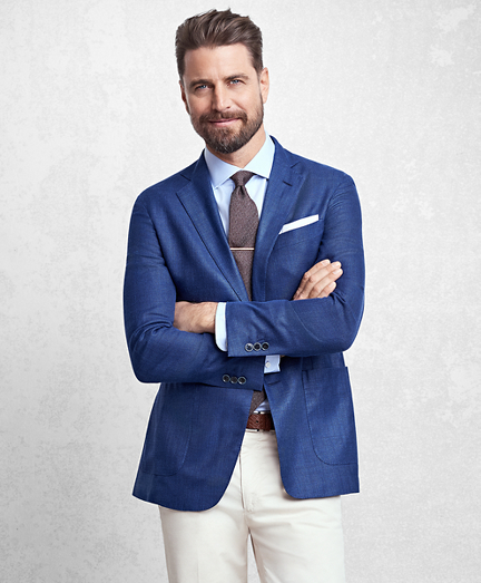 Golden Fleece® BrooksCloud™ Solid Hopsack Sport Coat