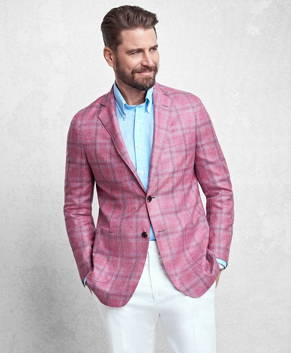 Golden Fleece® Rose Plaid Sport Coat Red