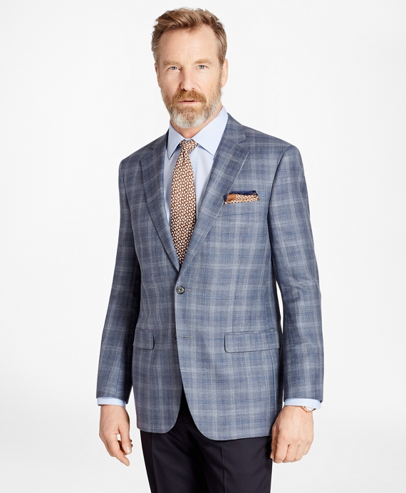 Madison Fit Saxxon Wool Triple-Check Sport Coat