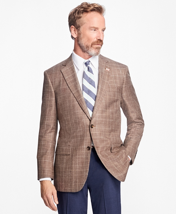 Madison Fit Saxxon Wool Plaid with Windowpane Sport Coat