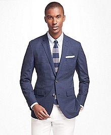 Milano Fit BrooksCool® Plaid Sport Coat