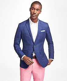 Milano Fit Textured Windowpane Sport Coat