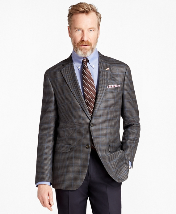 Madison Fit Saxxon Wool Check with Deco Sport Coat Olive