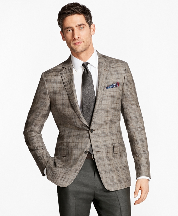 Regent Fit Plaid with Deco Sport Coat Tan