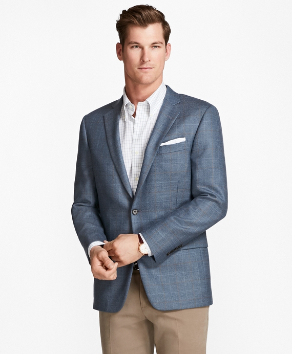Regent fit Twill with Windowpane Sport Coat Blue