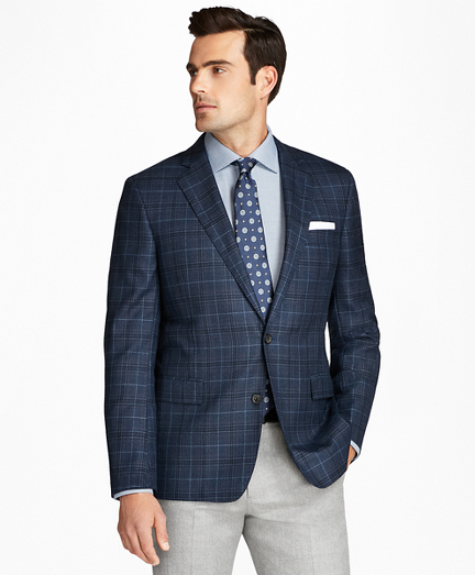 Regent Fit Saxxon Wool Plaid with Deco Sport Coat