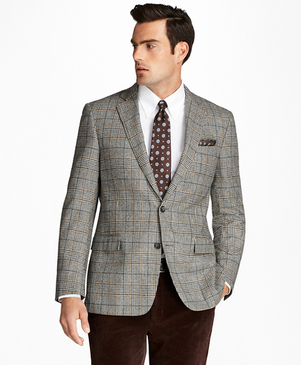 Regent Fit Black and White Plaid with Deco Sport Coat