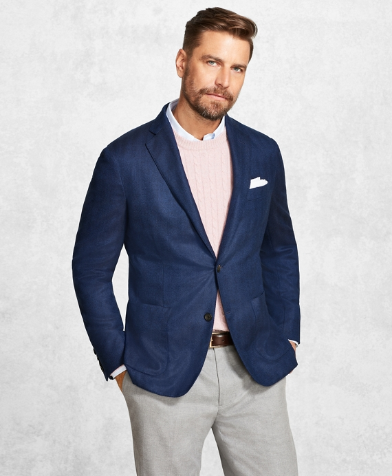 Golden Fleece® Blue Herringbone Sport Coat