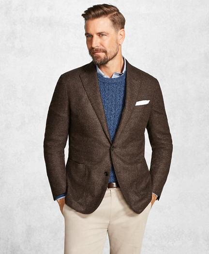 Golden Fleece® Brown Textured Solid Sport Coat