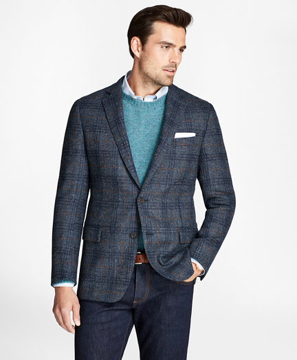 Regent Fit BrooksTweed® Plaid with Deco Sport Coat