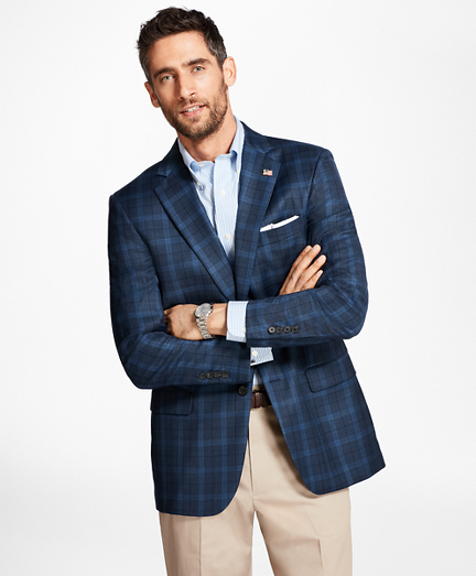 Madison Fit Saxxon Wool Windowpane Sport Coat