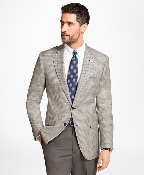Madison Fit Saxxon™ Wool Check with Deco Sport Coat Black-White