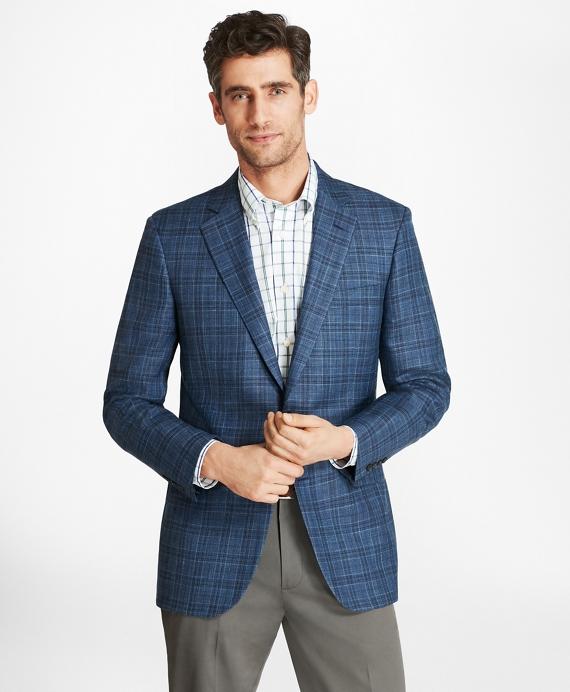 Madison Fit Saxxon Wool Plaid Sport Coat