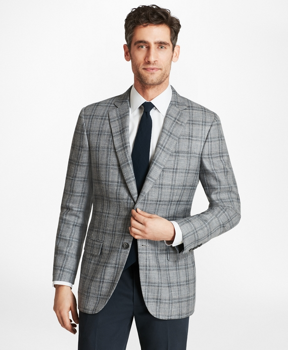 Madison Fit Plaid with Deco Sport Coat Grey-Blue