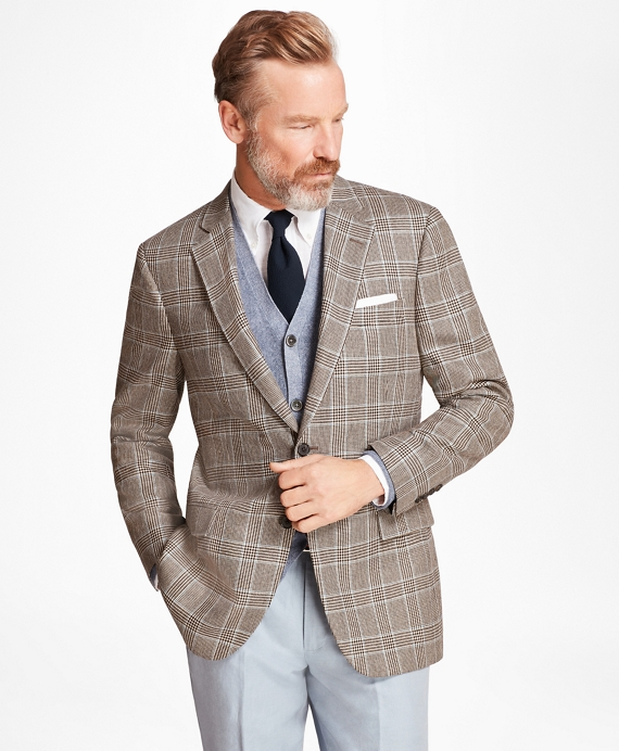 Madison Fit Plaid Sport Coat Tan