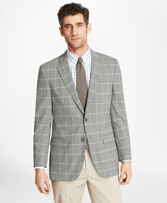 Madison Fit BrooksCool® Check with Deco Sport Coat Black-White