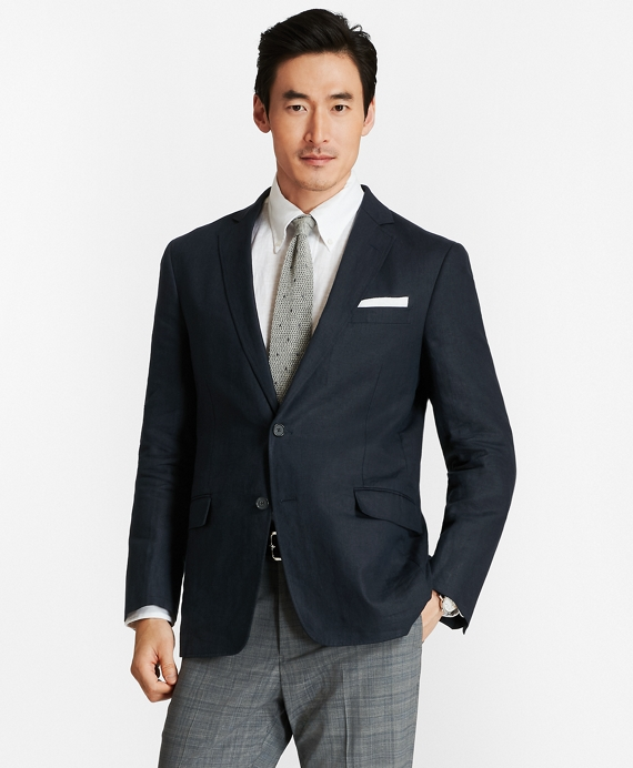 Regent Fit Linen Sport Coat Navy