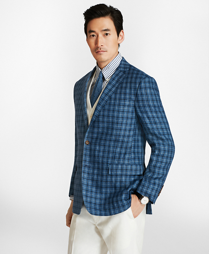 Regent Fit Multi-Windowpane Linen Sport Coat. remembertooltipbutton