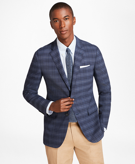 Milano Fit BrooksCool® Plaid with Windowpane Sport Coat