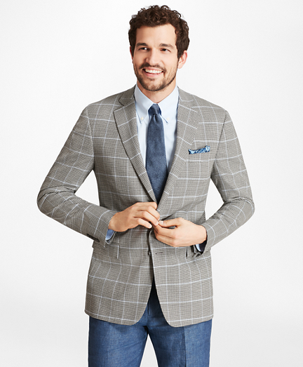 Regent Fit BrooksCool® Check with Deco Sport Coat