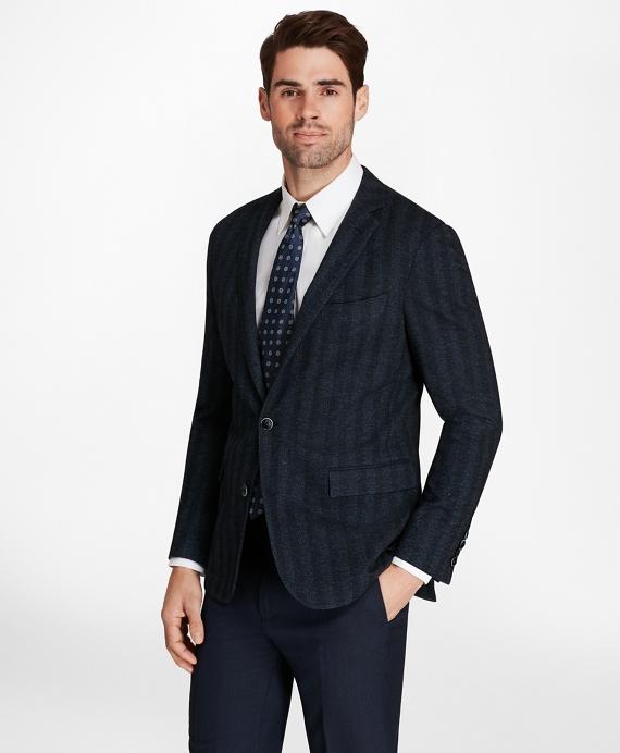 Regent Fit Herringbone Knit Sport Coat Navy