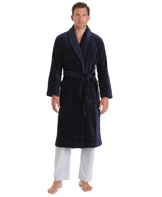supima robe navy - Mens Bathrobes