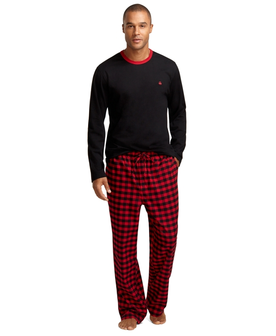Buffalo Check Flannel Lounge Set Red