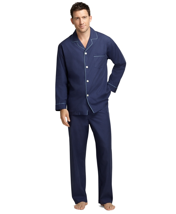 Solid Broadcloth Pajamas Navy