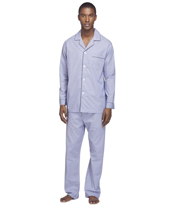 Mini Check Pajamas Blue