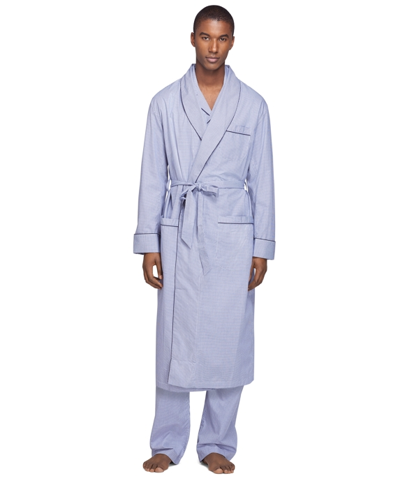 Mini Check Robe Blue