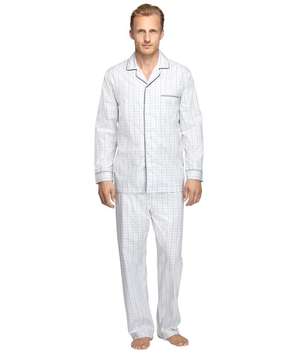 Glen Plaid Pajamas Grey
