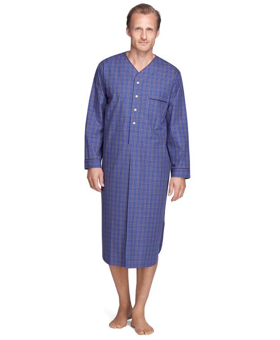 Plaid Nightshirt Blue