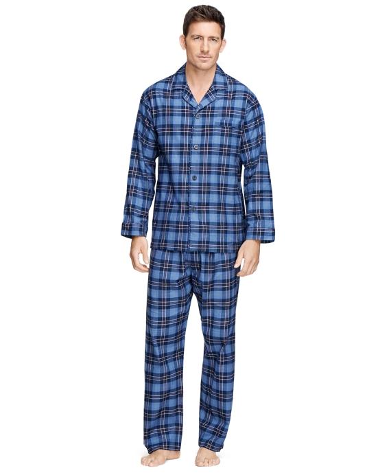 Tartan Flannel Pajamas Navy