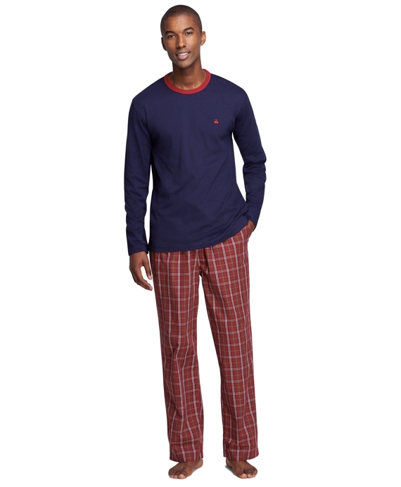 Signature Tartan Lounge Set Burgundy