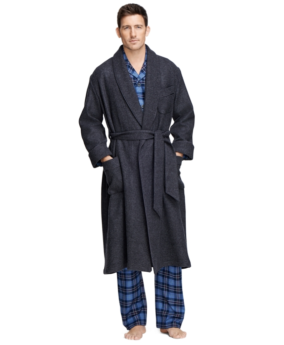 Cashmere and Wool Robe Grey