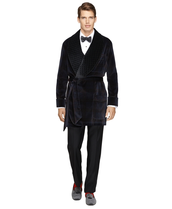Signature Tartan Smoking Jacket Navy