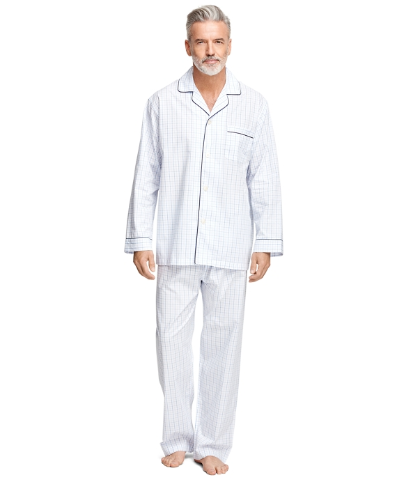 Alternating Windowpane Pajamas