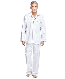 Alternating Windowpane Pajamas