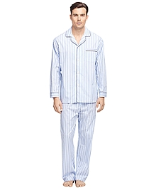 Alternating Hairline Bold Stripe Pajamas