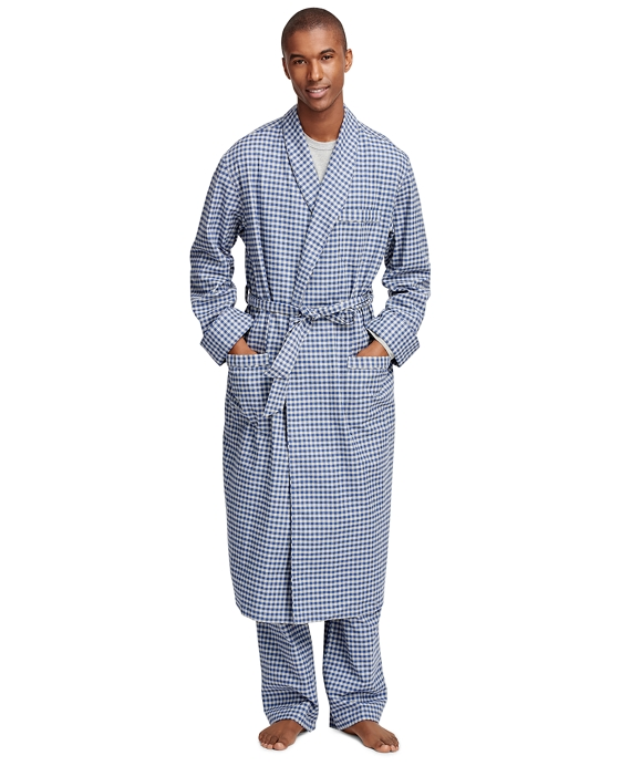Gingham Flannel Robe