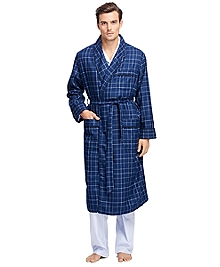 Glen Plaid Lambswool Robe