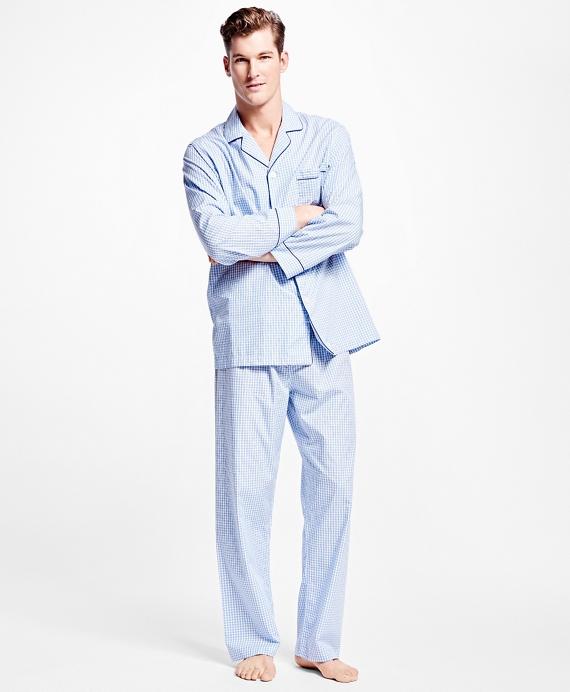 Framed Gingham Pajamas Blue