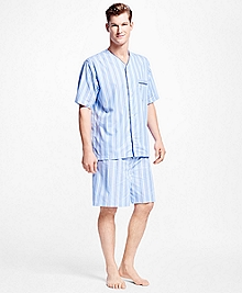 Thick and Thin Stripe Short Pajamas