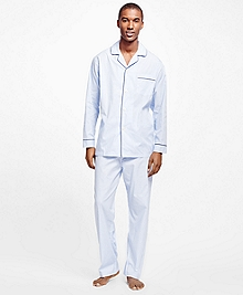 Hairline Split Stripe Pajamas